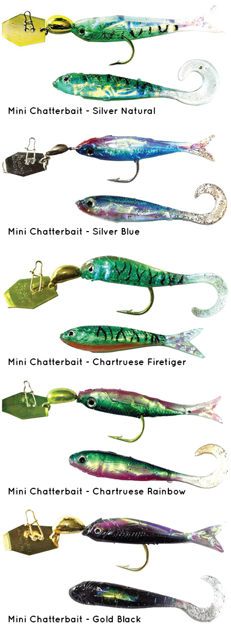 Mini Chatterbait fishing lures