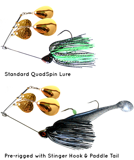 QuadSpin fishing lures